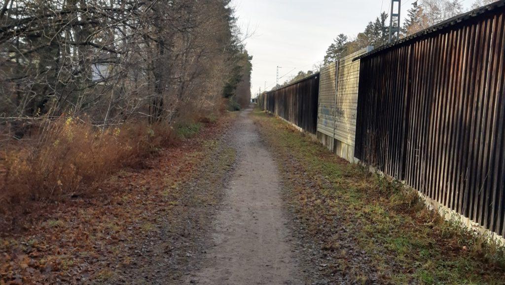 Bahnweg Baldham, Blick nach Westen