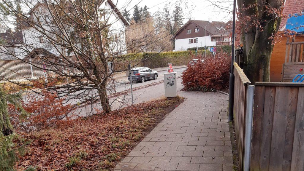 Blick nach Süden auf Möschenfelder Straße