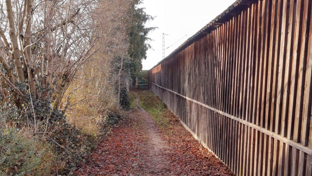 Bahnweg Vaterstetten-West, Blick nach Westen
