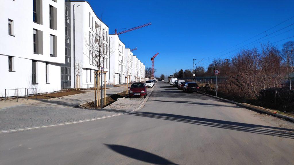 Die Heimgartenstraße in Gronsdorf